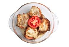 ντομάτες σκόρδου μελιτ&zeta Στοκ φωτογραφίες με δικαίωμα ελεύθερης χρήσης