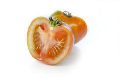 Ντομάτες στο λευκό Στοκ Φωτογραφία