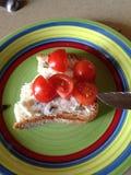 Ντομάτες στο ψωμί Στοκ φωτογραφίες με δικαίωμα ελεύθερης χρήσης