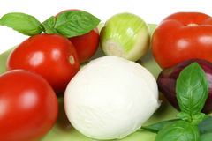 ντομάτες mozarella στοκ εικόνα