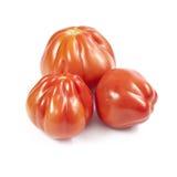 Ντομάτες Oxheart που απομονώνονται Στοκ Εικόνες