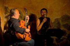 Ντουέτο τζαζ στη σκηνή Στοκ Εικόνα