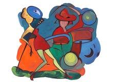 Ντουέτο της Jazz Στοκ εικόνα με δικαίωμα ελεύθερης χρήσης