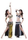 ντουέτο χορευτών κοιλιών στοκ εικόνες