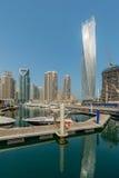 Ντουμπάι - 9 Αυγούστου 2014: Περιοχή μαρινών του Ντουμπάι επάνω Στοκ εικόνες με δικαίωμα ελεύθερης χρήσης