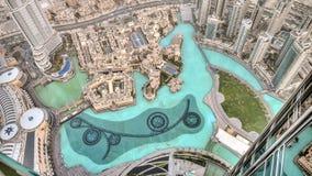 Ντουμπάι, Ε.Α.Ε. - 2 Ιουνίου 2013: Άποψη σχετικά με το Ντουμπάι από τον υψηλότερο πύργο στον κόσμο, Burj Khalifa Στοκ Εικόνες