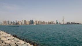Ντουμπάι, Ε Η μαρίνα του Ντουμπάι είναι μια διάσημες μοντέρνες περιοχή και μια μαρίνα απόθεμα βίντεο
