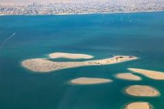 Ντουμπάι η εναέρια φωτογραφία άποψης νησιών του παγκόσμιου Clarence Χιλή Στοκ Φωτογραφία