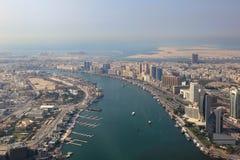 Ντουμπάι η του δέλτα εναέρια φωτογραφία άποψης κολπίσκου Στοκ εικόνες με δικαίωμα ελεύθερης χρήσης