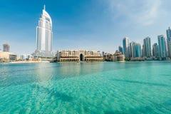 Ντουμπάι - 10 Ιανουαρίου 2015: Το ξενοδοχείο διευθύνσεων επάνω στοκ εικόνες με δικαίωμα ελεύθερης χρήσης