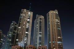 Ντουμπάι τή νύχτα Στοκ Φωτογραφίες