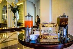 Ντουμπάι Το καλοκαίρι του 2016 Σύγχρονη και φωτεινή εσωτερική μαρμάρινη διακόσμηση στο Al Bahr Rixos Bab ξενοδοχείων στο Ras Al K Στοκ φωτογραφία με δικαίωμα ελεύθερης χρήσης