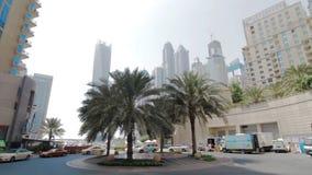 ΝΤΟΥΜΠΑΙ, Ε.Α.Ε. - 13 ΙΟΥΝΊΟΥ: Άποψη των σύγχρονων ουρανοξυστών στη μαρίνα του Ντουμπάι απόθεμα βίντεο