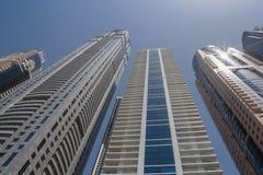 ΝΤΟΥΜΠΑΙ, Ε.Α.Ε. - 15 ΜΑΐΟΥ 2016: πύργοι στο Ντουμπάι Στοκ Φωτογραφία