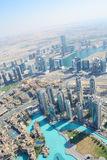 ΝΤΟΥΜΠΑΙ, Ε.Α.Ε. - 24 ΜΑΡΤΊΟΥ 2016: Ντουμπάι κεντρικός από Burj Khalifa Στοκ Εικόνες