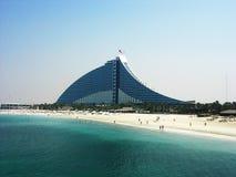 Ξενοδοχείο παραλιών Jumeirah στο Ντουμπάι Στοκ Εικόνες