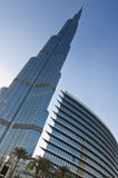 Burj Khalifa και το ξενοδοχείο διευθύνσεων Στοκ φωτογραφία με δικαίωμα ελεύθερης χρήσης