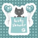 ντους γατακιών πρόσκλησης μωρών απεικόνιση αποθεμάτων