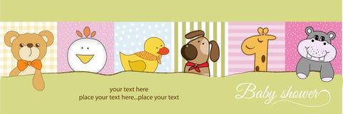 ντους μωρών ανακοίνωσης απεικόνιση αποθεμάτων