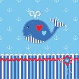 Ντους μωρών με τη χαριτωμένη φάλαινα Στοκ Φωτογραφίες