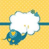 Ντους μωρών με το χαριτωμένο ελέφαντα Στοκ Εικόνα