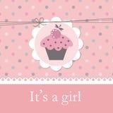 Ντους μωρών με το cupcake Στοκ Φωτογραφίες