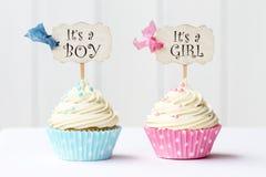 Ντους μωρών cupcakes Στοκ εικόνες με δικαίωμα ελεύθερης χρήσης