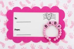 ντους πρόσκλησης μωρών Στοκ Εικόνες