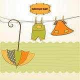 ντους πρόσκλησης μωρών διανυσματική απεικόνιση