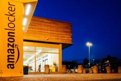 Ντουλάπι του Αμαζονίου στο κατάστημα υπεραγορών Στοκ Φωτογραφία