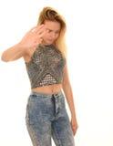ντροπαλή γυναίκα στοκ φωτογραφία με δικαίωμα ελεύθερης χρήσης