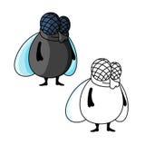 Ντροπαλός χαμογελώντας παχύς χαρακτήρας κινουμένων σχεδίων μυγών Στοκ φωτογραφία με δικαίωμα ελεύθερης χρήσης