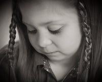 Ντροπαλό κορίτσι Στοκ Εικόνες