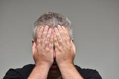 Ντροπιασμένο αρσενικό πρόσωπο Στοκ εικόνα με δικαίωμα ελεύθερης χρήσης