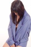 ντροπιασμένο κορίτσι ομο& Στοκ φωτογραφία με δικαίωμα ελεύθερης χρήσης