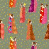 Ντυμένα διαμορφωμένα υφάσματα κοριτσιών Στοκ Εικόνες