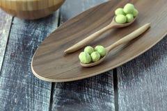 Ντυμένα Wasabi φυστίκια Στοκ Εικόνες
