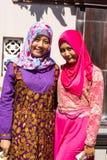 Ντυμένες Festively μουσουλμανικές γυναίκες στο τέλος Ramadan, σε Nusa penida-Μπαλί, Ινδονησία Στοκ φωτογραφία με δικαίωμα ελεύθερης χρήσης