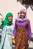 Ντυμένες Festively μουσουλμανικές γυναίκες στο τέλος Ramadan, σε Nusa penida-Μπαλί, Ινδονησία Στοκ Φωτογραφία