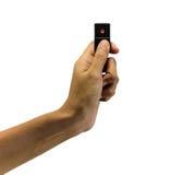 Ντόμινο λαβής χεριών Στοκ εικόνες με δικαίωμα ελεύθερης χρήσης