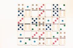 Ντόμινο με τα χρωματισμένα σημεία Στοκ φωτογραφίες με δικαίωμα ελεύθερης χρήσης
