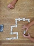 Ντόμινο παιχνιδιού Στοκ φωτογραφίες με δικαίωμα ελεύθερης χρήσης