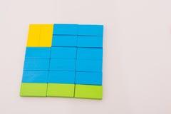 Ντόμινο χρώματος Στοκ Εικόνες
