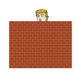 Ντόναλντ Τραμπ πίσω από μια διανυσματική απεικόνιση τουβλότοιχος Στοκ φωτογραφίες με δικαίωμα ελεύθερης χρήσης