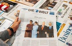 Ντόναλντ Τραμπ, Barack Obama, Melania Trump και inau της Michele Obama Στοκ Εικόνες
