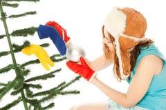 ντύνοντας γυναίκα δέντρων Χ Στοκ εικόνες με δικαίωμα ελεύθερης χρήσης