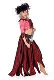 ντύνοντας γυναίκα μεταμφ&iota Στοκ Φωτογραφίες