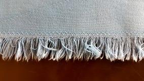Ντύστε το τέλος napery με μια βελονιά τρεκλίσματος Στοκ φωτογραφία με δικαίωμα ελεύθερης χρήσης