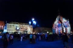 Νυρεμβέργη, Γερμανία - κύβος Blaue Nacht 2012 Στοκ εικόνες με δικαίωμα ελεύθερης χρήσης