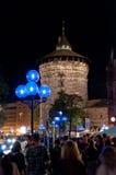 Νυρεμβέργη, Γερμανία - κύβος Blaue Nacht 2012 Στοκ εικόνα με δικαίωμα ελεύθερης χρήσης